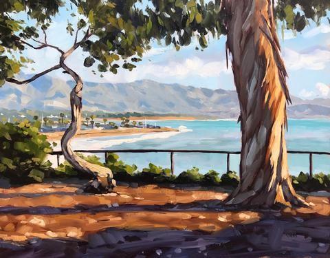 """""""View from Shoreline"""" original fine art by Sharon Schock"""