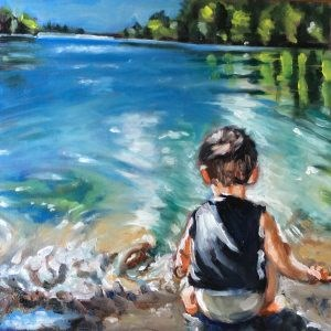 """Little boy"" original fine art by Sonja Neumann"