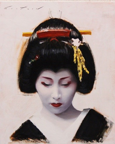 """Portrait of Fumino"" original fine art by Phil Couture"