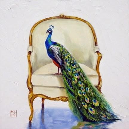 """tall tail"" original fine art by Kimberly Applegate"