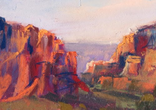 """It's All About the Sunset....Grand Canyon to Sedona"" original fine art by Karen Margulis"