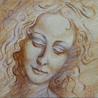 """4073 - Angel Face - Mini Master"" original fine art by Sea Dean"