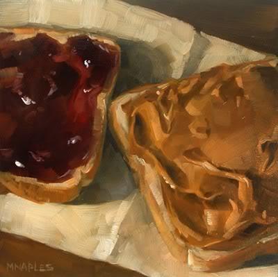 """PB & J No.5"" original fine art by Michael Naples"