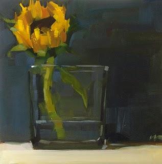 """""""Sunflower --- SOLD"""" original fine art by Carol Marine"""