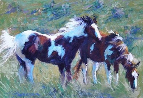 """Splashy Paints"" original fine art by Trish Stevenson"