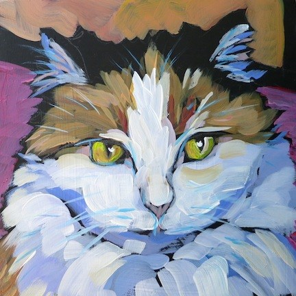"""Callie-Cat"" original fine art by Kat Corrigan"