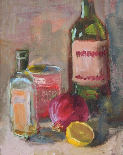 """Cooking Supplies Oil Painting 8x10"" original fine art by Amy Whitehouse"