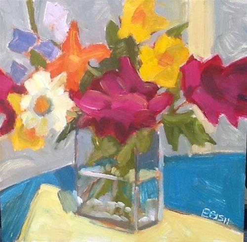 """""""Last of the Peonies"""" original fine art by Elizabeth Bish"""