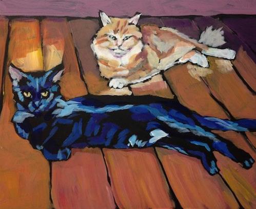 """March 20 Doasht & Redski"" original fine art by Kat Corrigan"