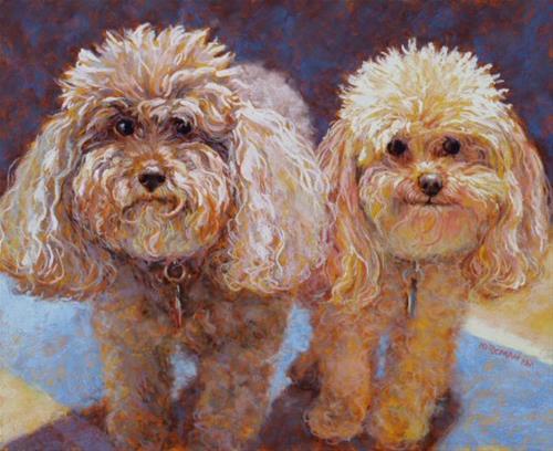 """Bella and Fuzz"" original fine art by Rita Kirkman"