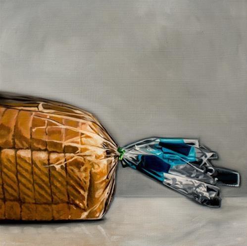 """Fresh Bread Loaf"" original fine art by Lauren Pretorius"
