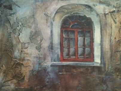 """Old  Window"" original fine art by Margie Whittington"