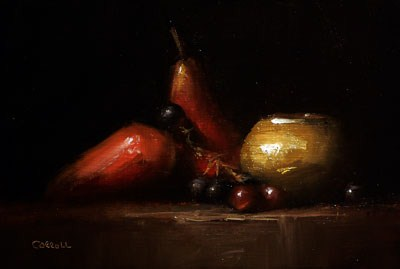 """Still Life with Pears"" original fine art by Neil Carroll"