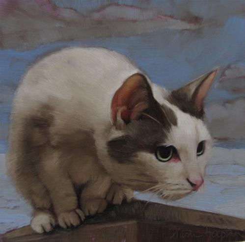 """Cat's Eye View"" original fine art by Diane Hoeptner"