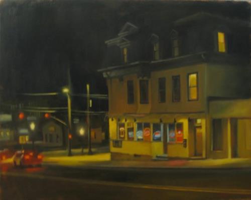 """The tavern at Olneyville"" original fine art by Kathy Weber"