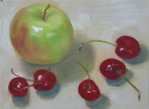 """""""Snacktime"""" original fine art by Sandy Haynes"""