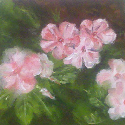 """Impatiens"" original fine art by Linda Lowery"