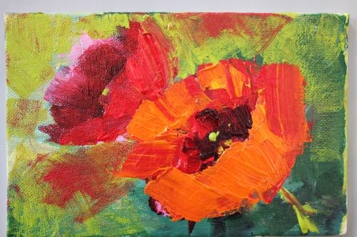 """""""Poppies Floral Contemporary Paintings by Arizona Artist Amy Whitehouse"""" original fine art by Amy Whitehouse"""