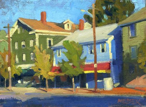 """Wickendon St. morning"" original fine art by Kathy Weber"