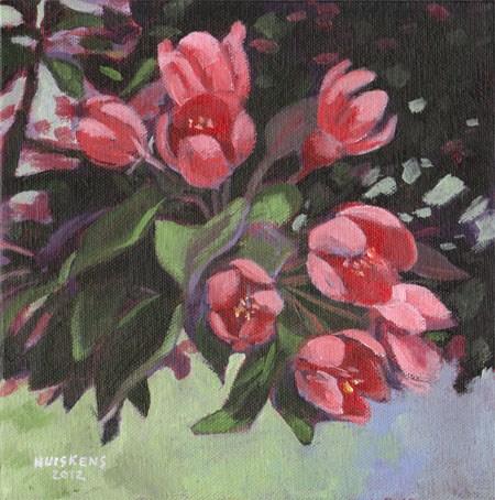 """Apple Blossoms"" original fine art by Randal Huiskens"