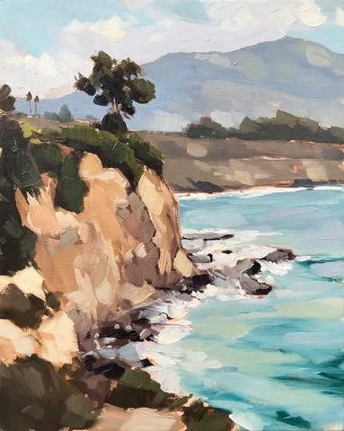 """Carpinteria Bluffs Plein Air"" original fine art by Sharon Schock"
