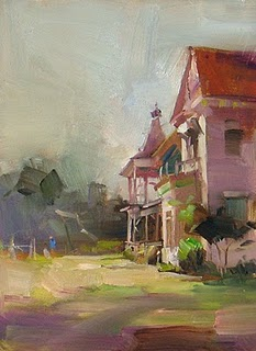 """Barr Mansion"" original fine art by Qiang Huang"
