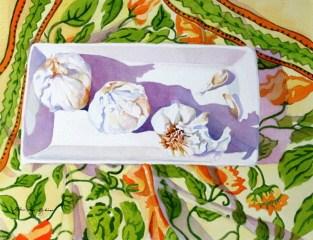 """Garlic, it's what's for Dinner"" original fine art by JoAnne Perez Robinson"