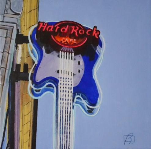 """Hard Rock Seattle (2016)"" original fine art by Andre Beaulieu"