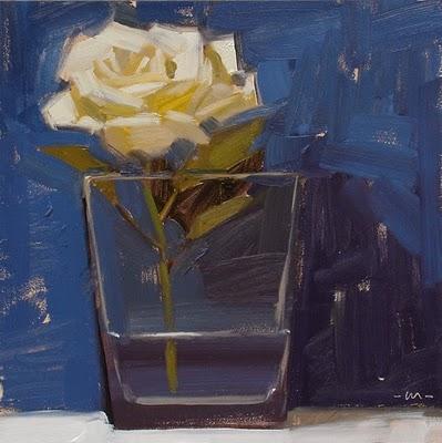 """Alone in the Pool"" original fine art by Carol Marine"