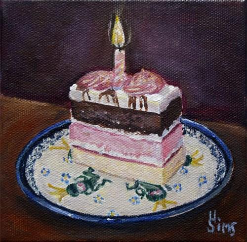 """""""Cake: Polish Pottery LXXIII"""" original fine art by Heather Sims"""