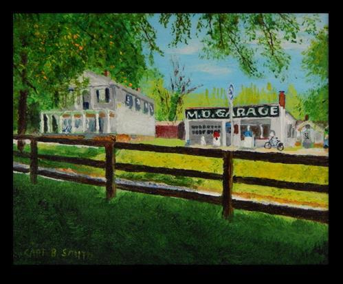 """MD Garage"" original fine art by Captain B Smith"