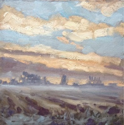 """Sunrise, Moulton"" original fine art by Mo Teeuw"