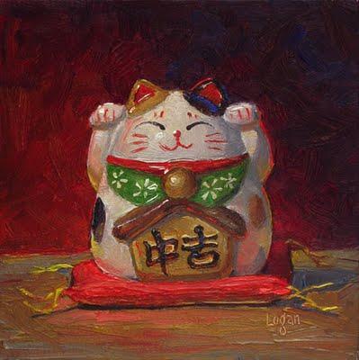 """Cat Bank Hex"" original fine art by Raymond Logan"
