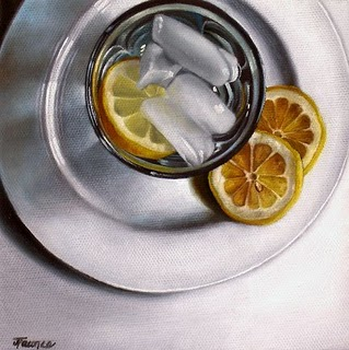 """""""White Porcelain & Ice Water"""" original fine art by Jelaine Faunce"""
