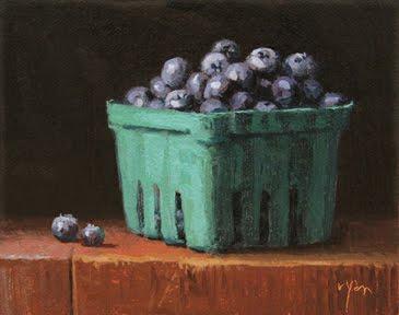 """Summer Blueberries"" original fine art by Abbey Ryan"