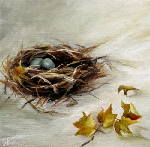 """""""The Art of Nest Building"""" original fine art by ~ces~ Christine E. S. Code"""