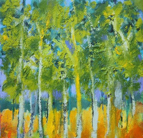 """""""Trees Catch Sunlight, Contemporary Landscape Paintings by Amy Whitehouse"""" original fine art by Amy Whitehouse"""