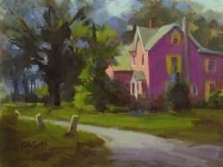 """""""Summer House"""" original fine art by Rita Curtis"""