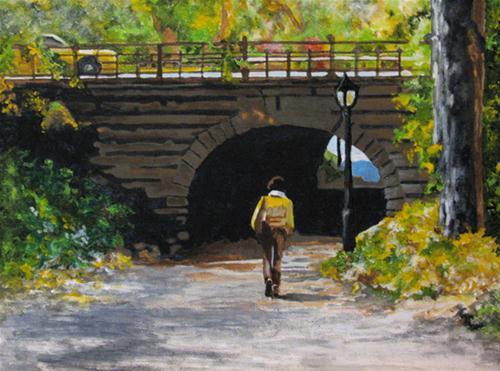 """Central Park in the Fall"" original fine art by Nan Johnson"