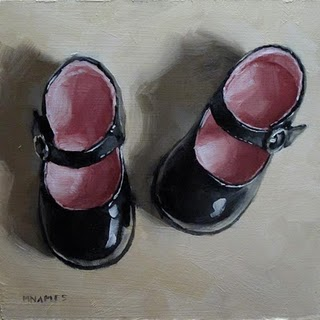 """Mary Janes No.3"" original fine art by Michael Naples"