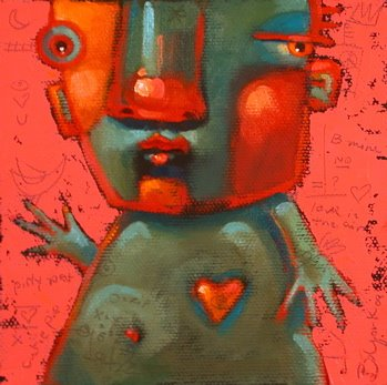 """Hunk Of Burnin' Love"" original fine art by Brenda York"