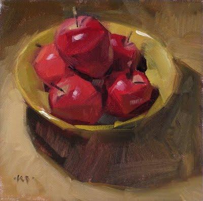 """Apple Bowl"" original fine art by Carol Marine"