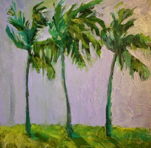 """""""Cabo Palms, Contemporary Landscape Paintings by Arizona Artist Amy Whitehouse"""" original fine art by Amy Whitehouse"""
