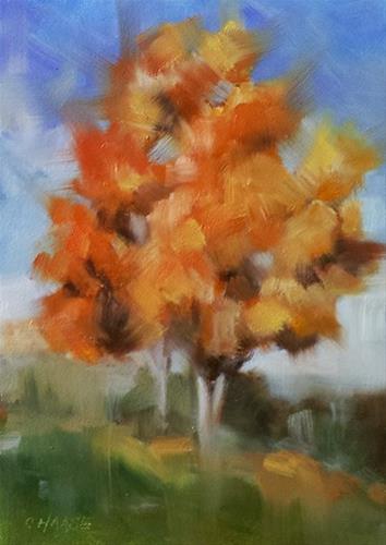 """""""Autumn"""" original fine art by Cindy Haase"""