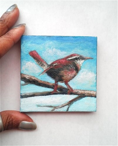 """Carolina Wren"" original fine art by Camille Morgan"