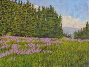 """Wildflowers Gone Wild"" original fine art by Robert Frankis"