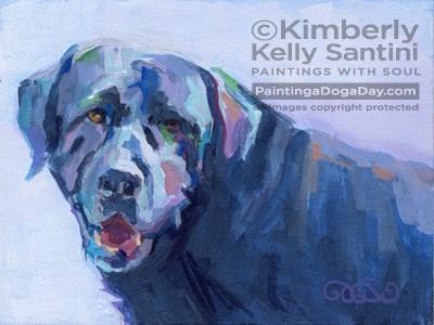 """Melvin"" original fine art by Kimberly Santini"