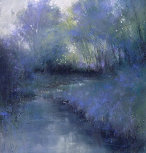 """Bejeweled Woodland"" original fine art by Barbara Benedetti Newton"
