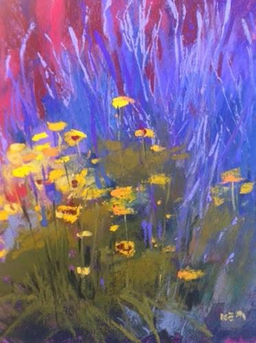 """Cleaning Pastels While Traveling"" original fine art by Karen Margulis"