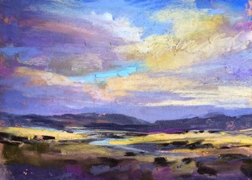 """Painting in Between Storms....Abiquiu Adventure Continues"" original fine art by Karen Margulis"